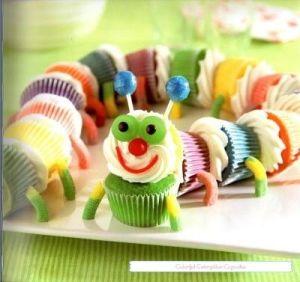 cupcake catapiller